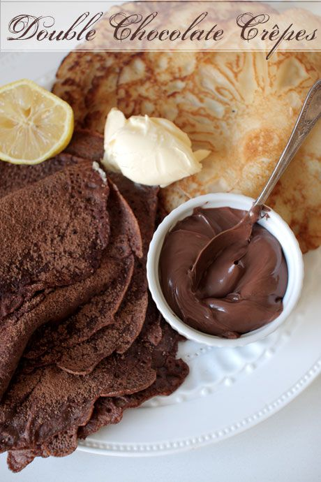 double chocolate crepes