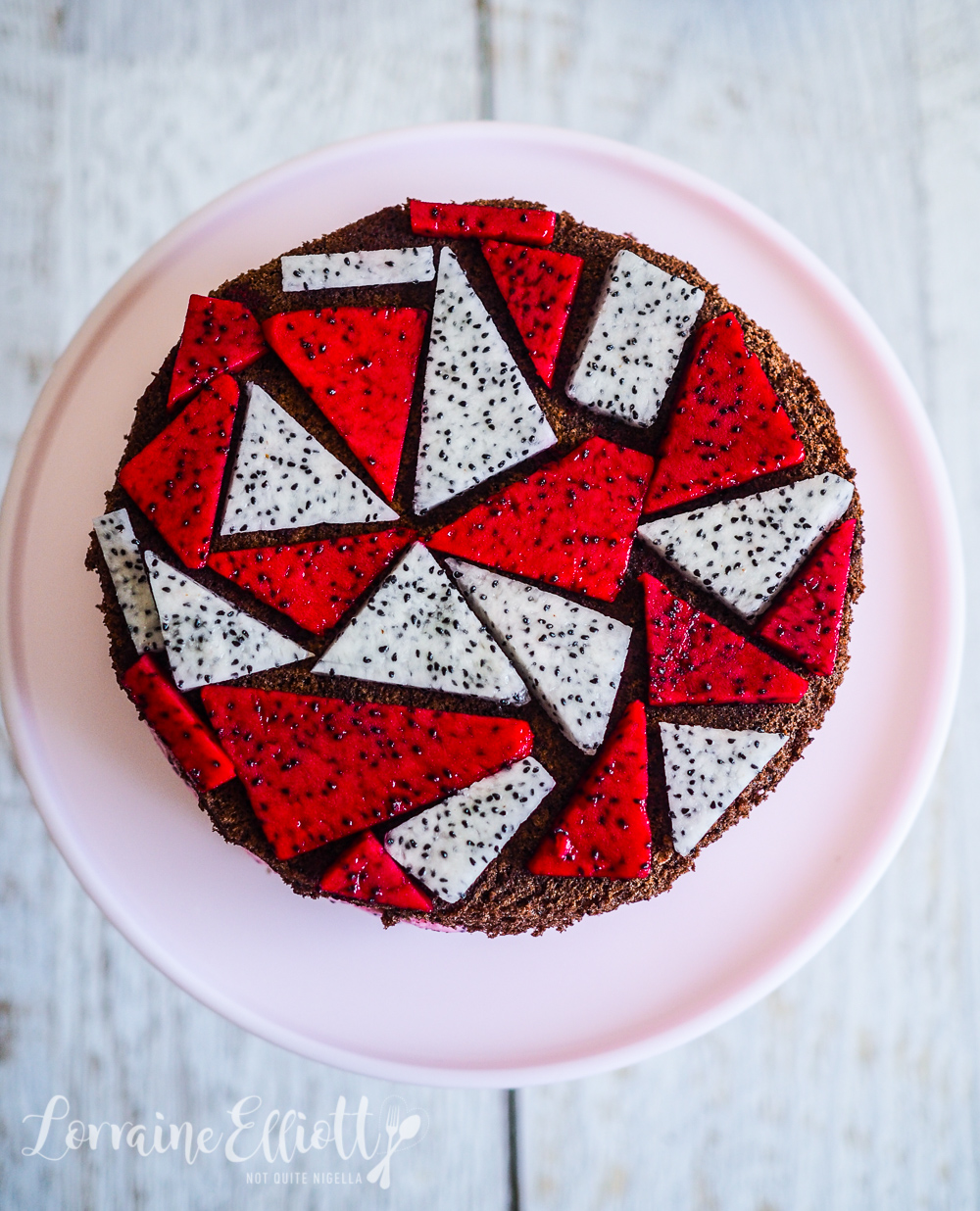 Dragon Fruit Cake Recipe
