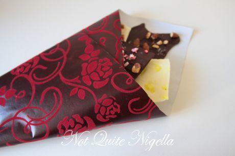 chocolate bark bouquet