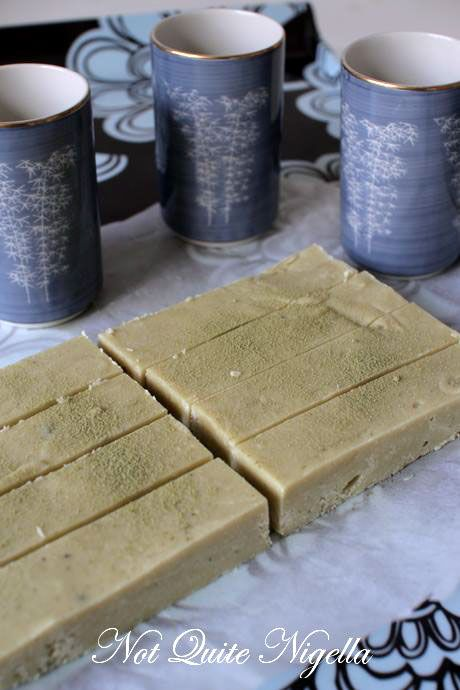 green tea fudge