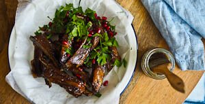 Lip Lickin' Glazed Pomegranate Lamb Riblets for Australia Day!