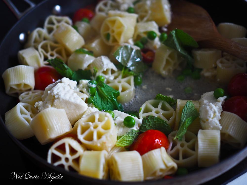 Ricotta Mint Pea Chilli Rotelle Pasta