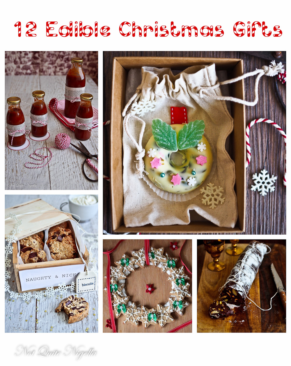 12 Inspired Edible Christmas Ideas Rocky Road Wreaths Not Quite Nigella