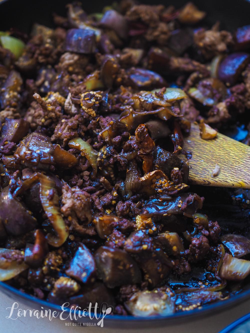 Chinese Eggplant & Mince Stir Fry