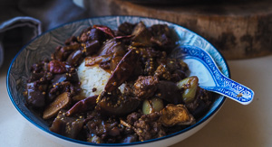EASY Chinese Eggplant & Mince Stir Fry!