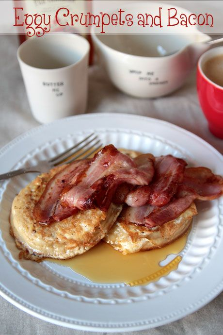 eggy crumpets bacon