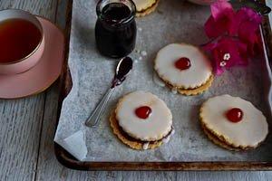 Empire Biscuits - A Double Decker Shortbread & Raspberry Treat
