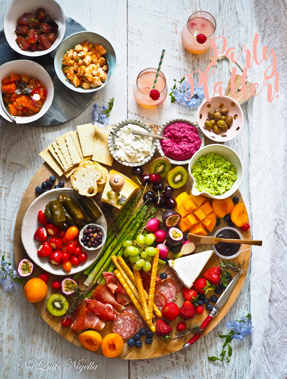 healthy new year s party platter not quite nigella