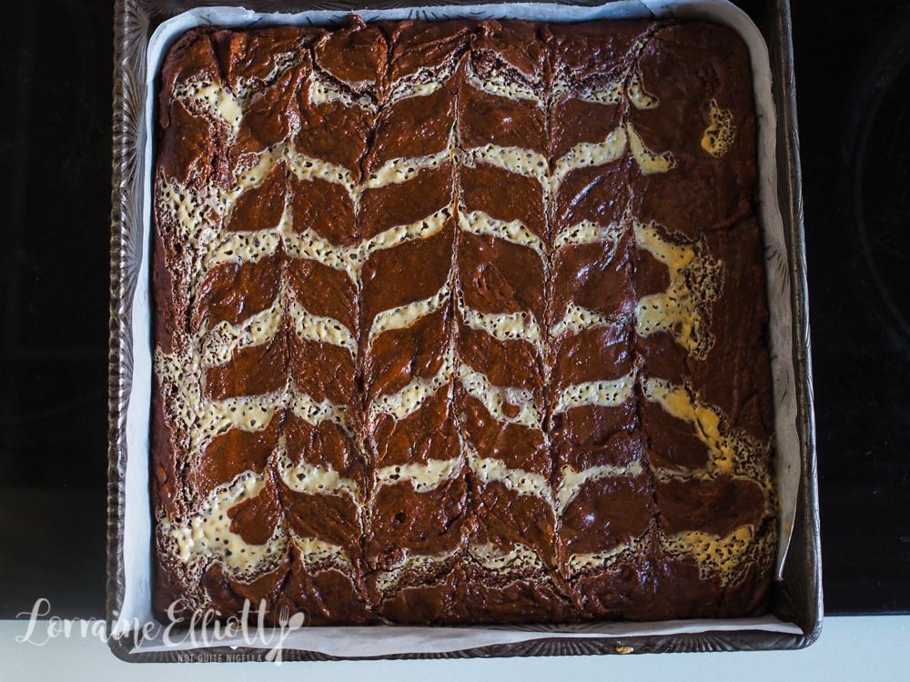 Espresso Halva Tahini Brownies