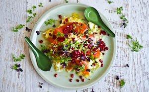 In The Raw: Salmon, Fennel, Orange & Pomegranate Salad