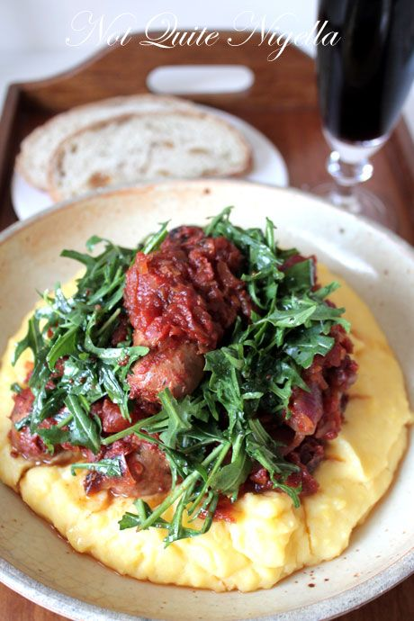 baked sausages and polenta, fergus henderson recipe
