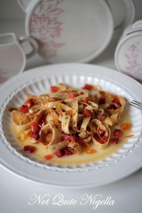 fettucine crepe suzette
