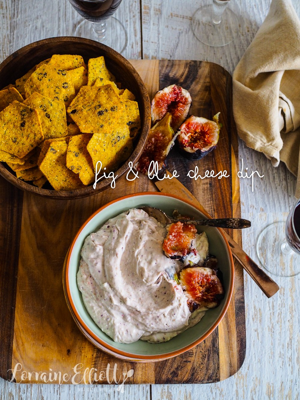 Blue Cheese Fig Dip Easy recipe