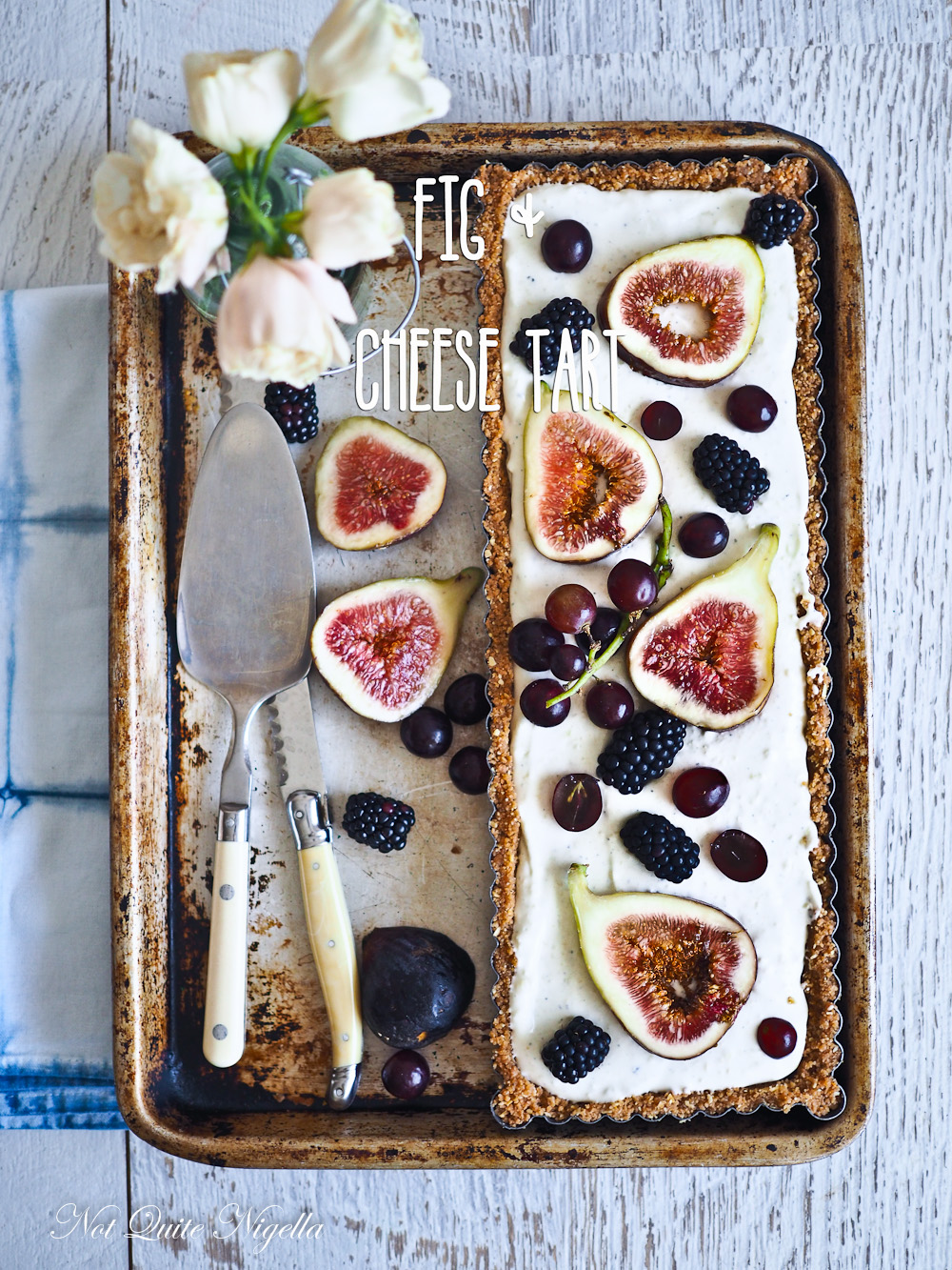 Fig Cheese Tart Unbaked