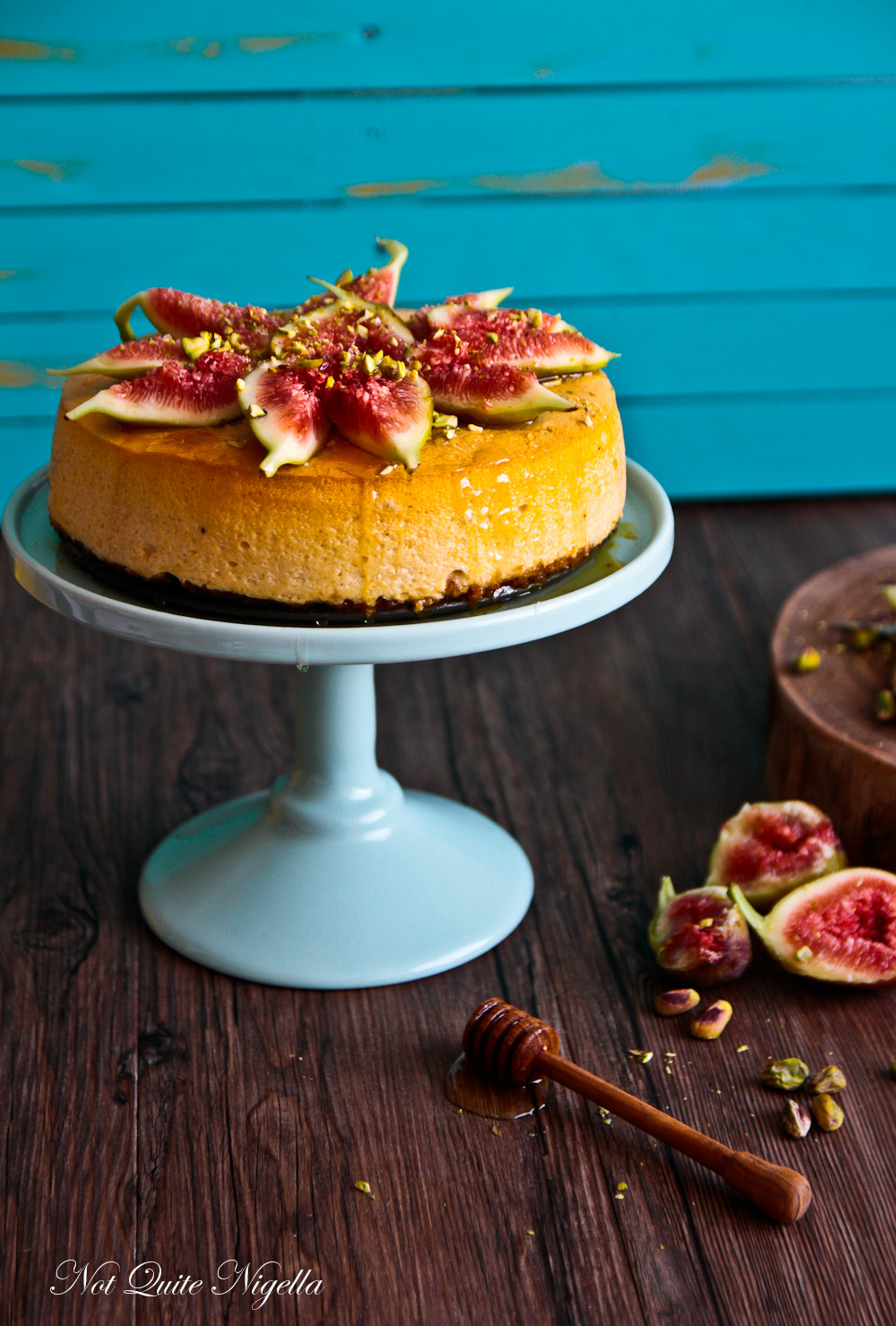 Light As A Feather Fig, Pistachio & Cinnamon Souffle Cheesecake!