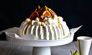 Jezebel, The Fig Pavlova With Salted Maple Browned Butterscotch Sauce