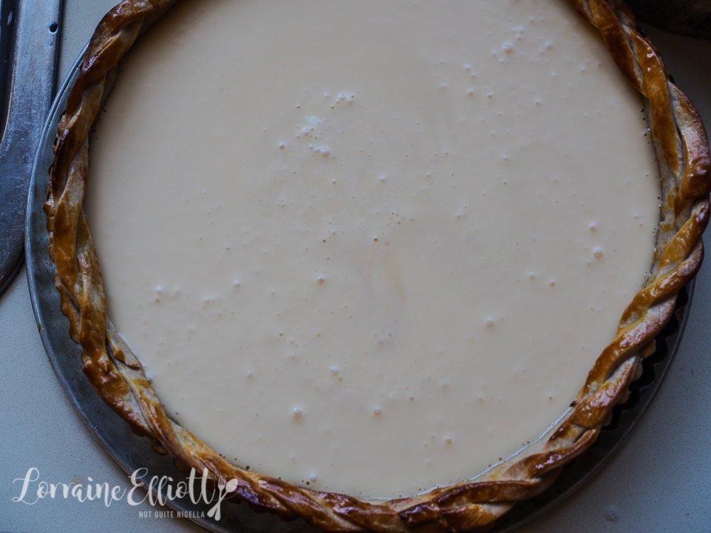 Fig & Sour Cream Tart With Spelt Coconut Crust