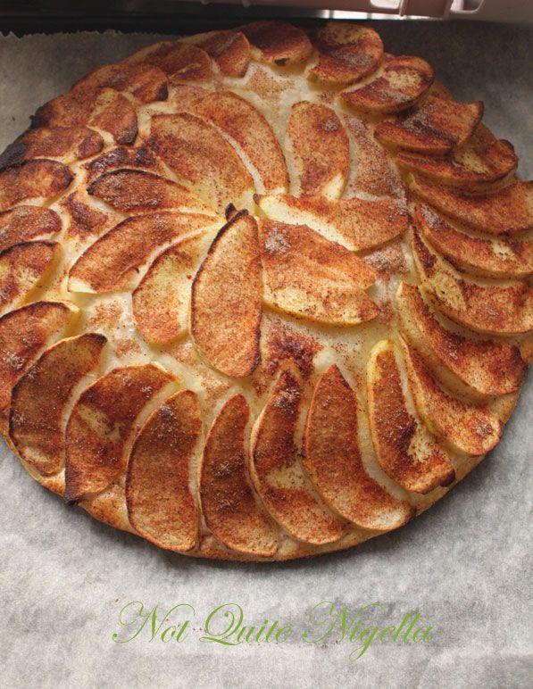 Fine Tarte Aux Pommes avec Cannelle Glacée