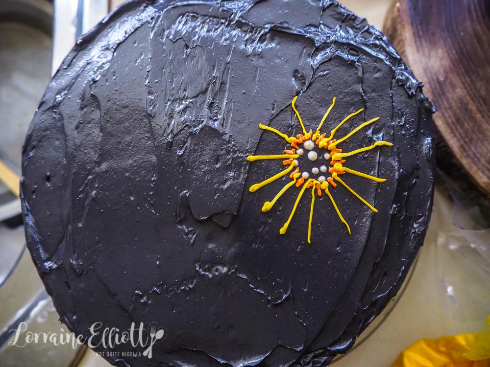 Fireworks Cake Vasilopita New Year's Day Cake