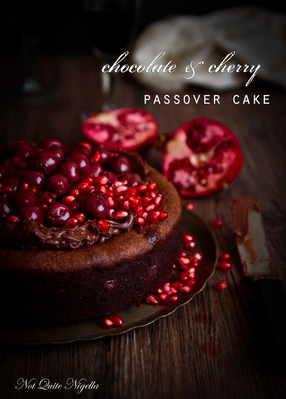 Flourless Chocolate Cherry Cake Passover