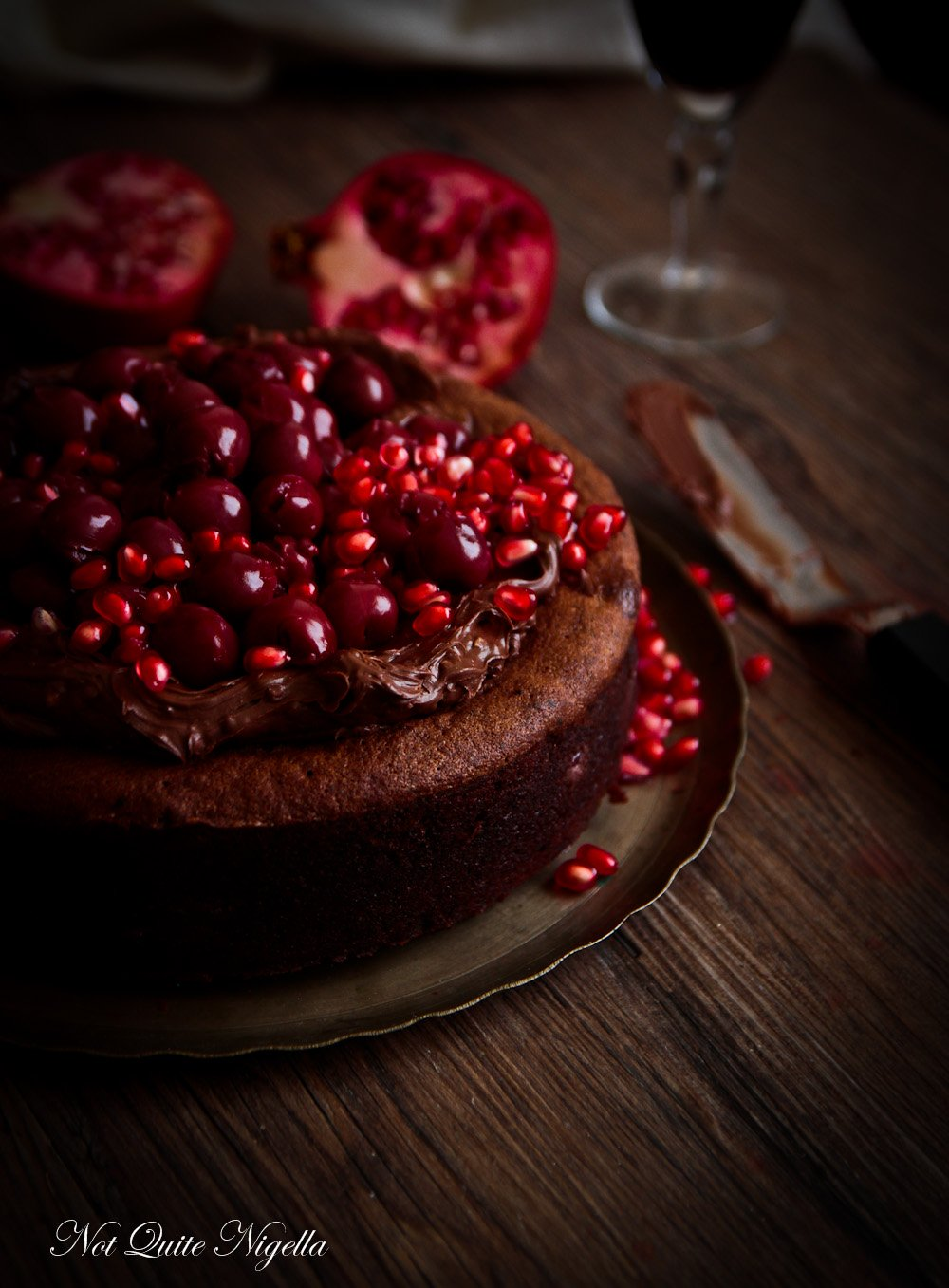 Flourless Chocolate Cherry Cake @ Not Quite Nigella