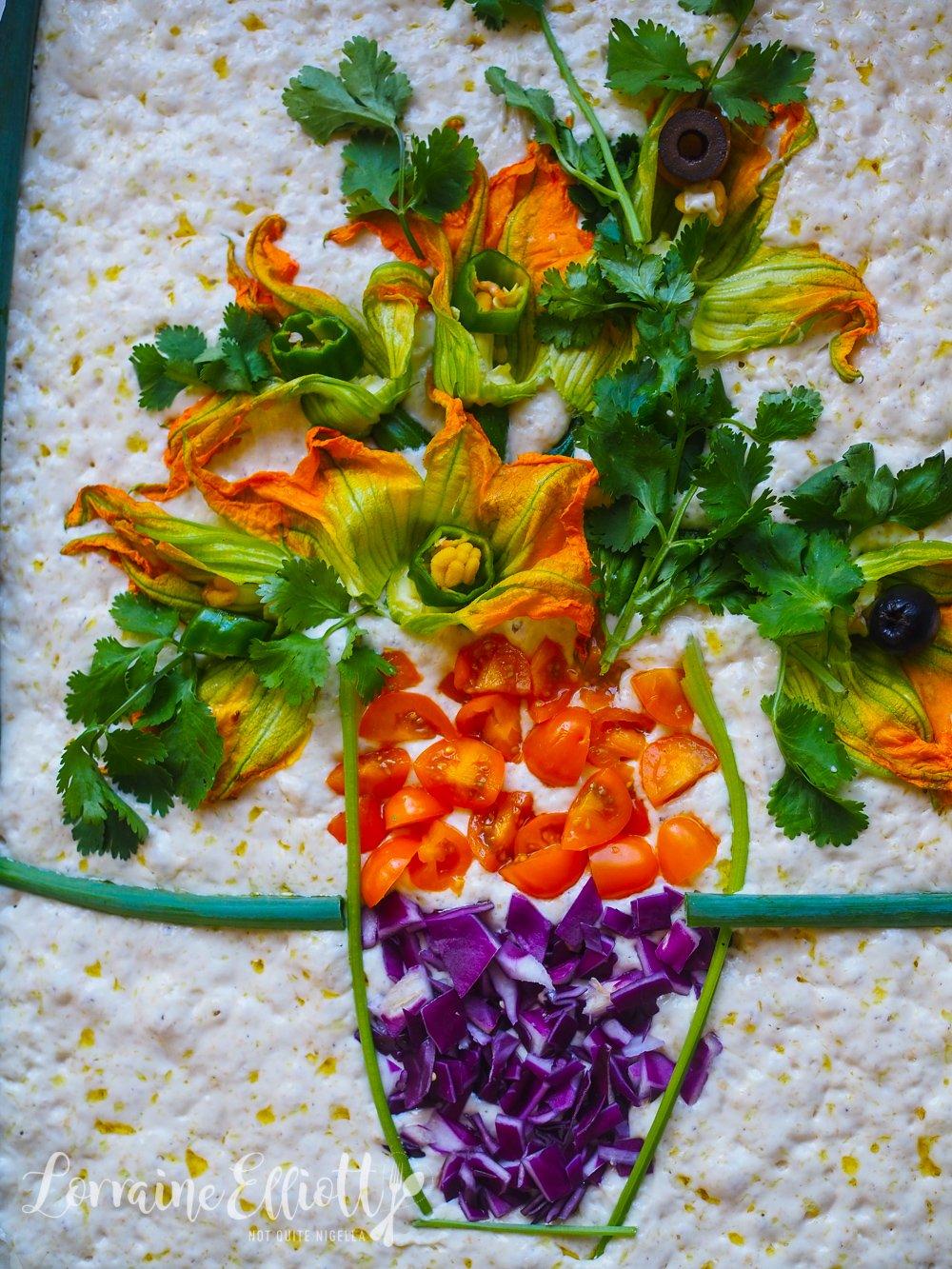 Focaccia Art Sunflowers