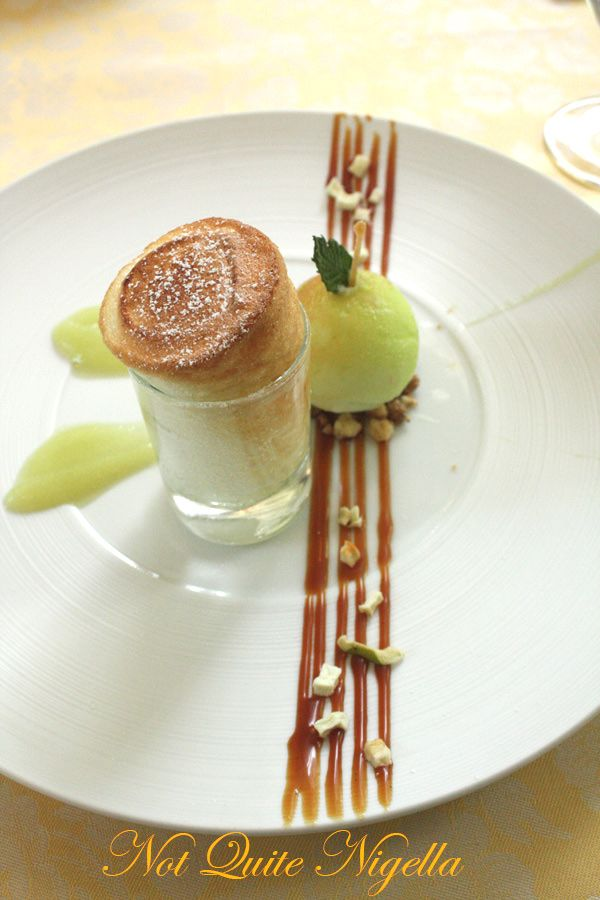 Foliage at the Mandarin Oriental apple dessert