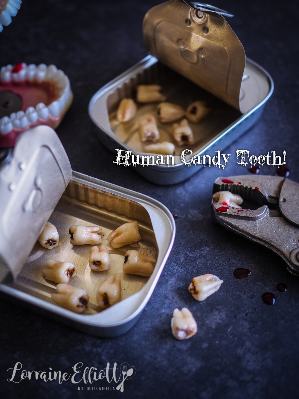 Human teeth silicon mold marzipan