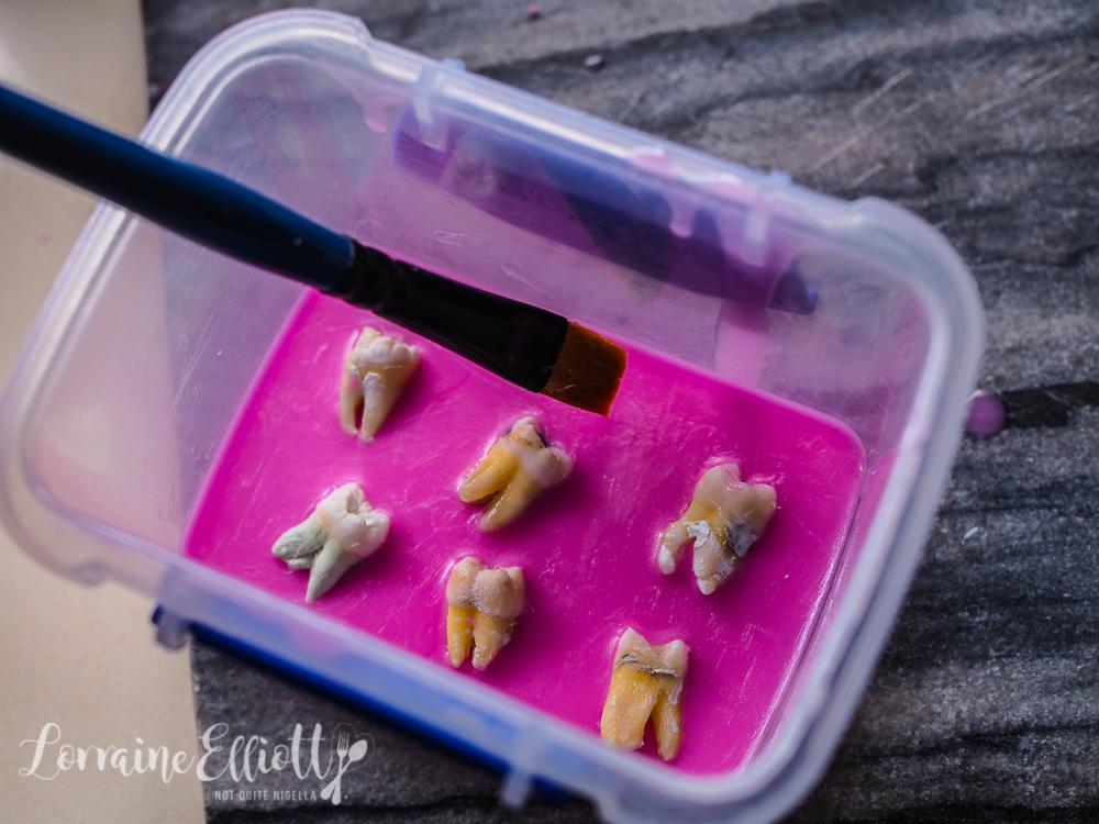 Human teeth silicon mold marzipan
