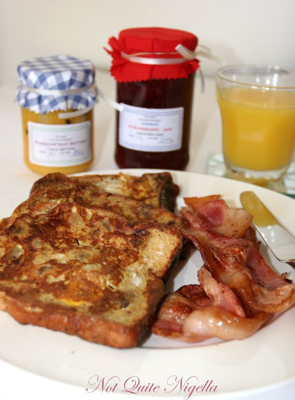 French toast with Faye and Jack's Jams from Leura, The Blue Mountains