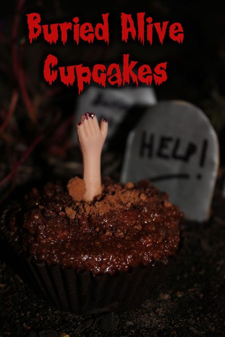Buried Alive cupcakes