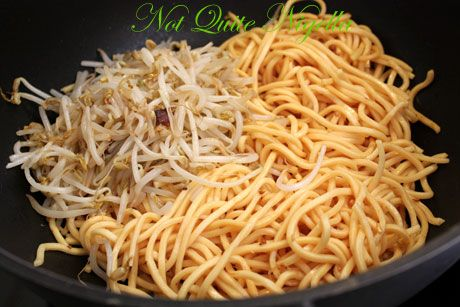 frying noodles bean sprouts