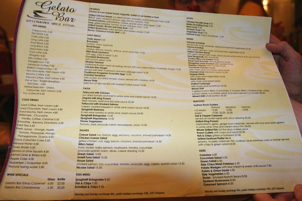 Gelato Bar at Bondi