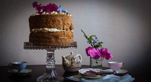 A Sky High Ginger Fluff Sponge Cake