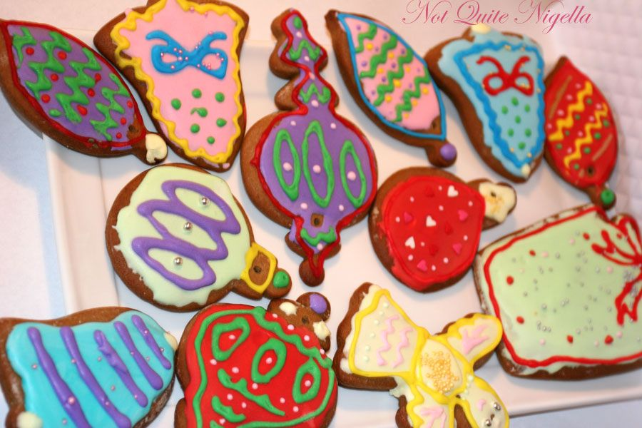 Gingerbread Christmas baubles