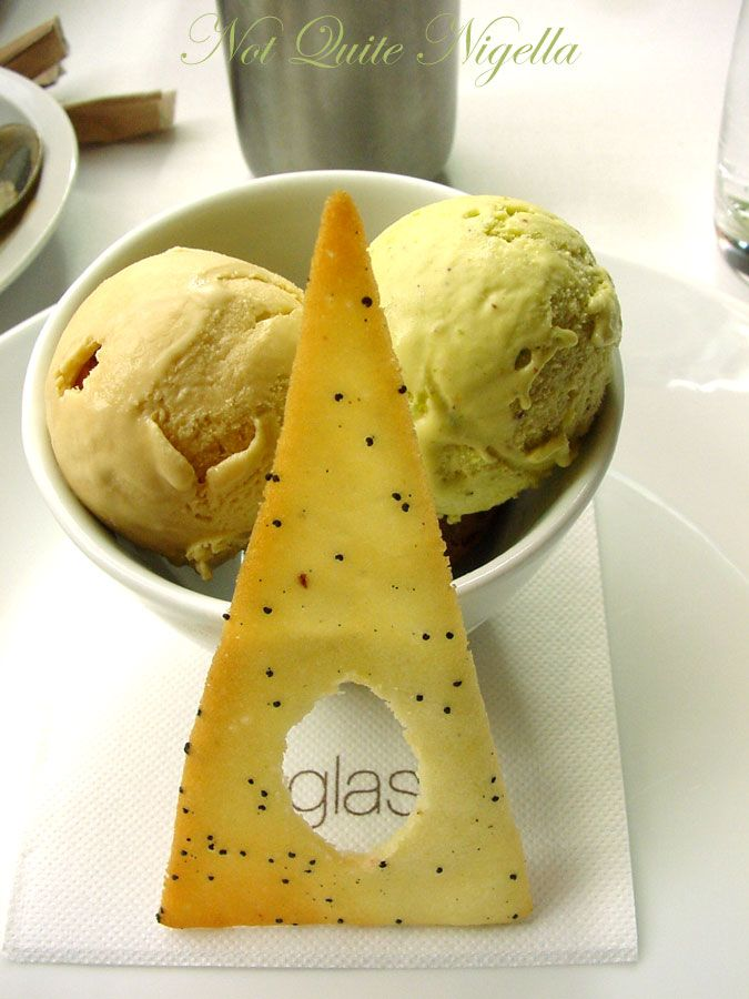 Glass Brasserie at the Hilton, Sydney ice creams