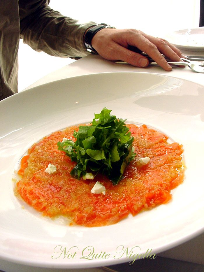 Glass Brasserie at the Hilton, Sydney Ocean trout entree