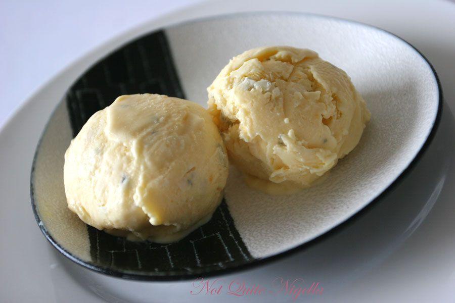 Gorgonzola Blue cheese ice cream inspired by Gordon Ramsey