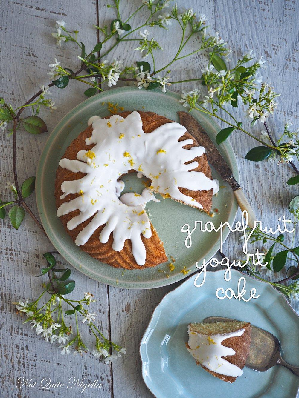 Persephone The Zingy Grapefruit Yogurt Cake