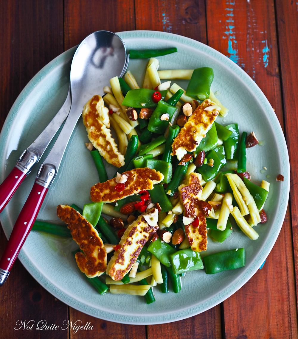 Green Beans Halloumi