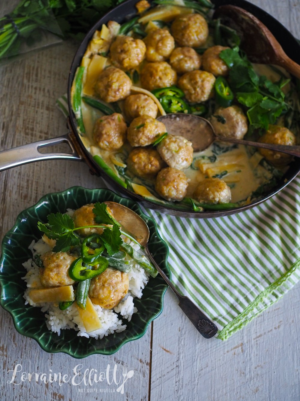 Green Curry Chicken Meatballs