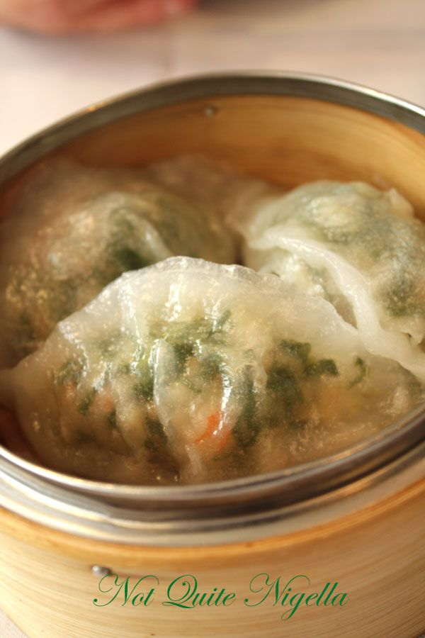 Greenwood Chinese restaurant Spinach dumplings