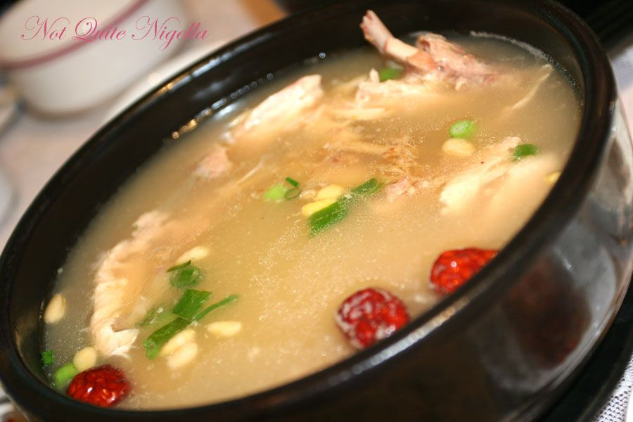 Haemil Korean at Circular Quay Chicken and Ginseng soup