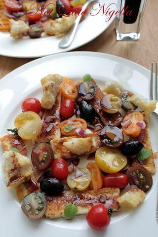 Halloumi and Heirloom Tomato Panzanella Salad
