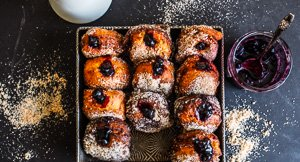 Light As Air Halloumi Donuts With Blueberry Jam!