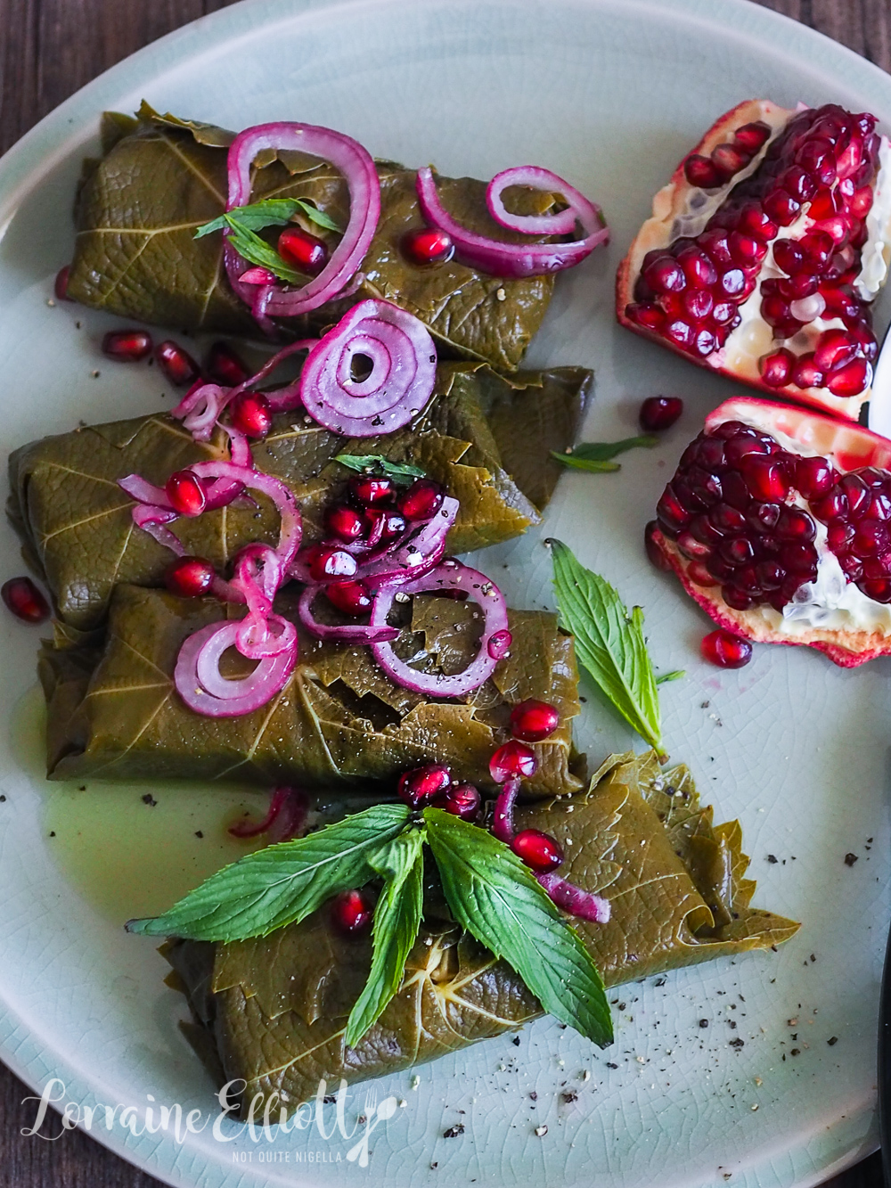 Halloumi Vine Leaves
