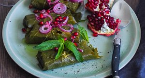 Wrapping It Up! Halloumi Wrapped in Vine Leaves