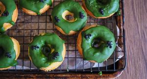 Ants on Matcha Mochi Donuts