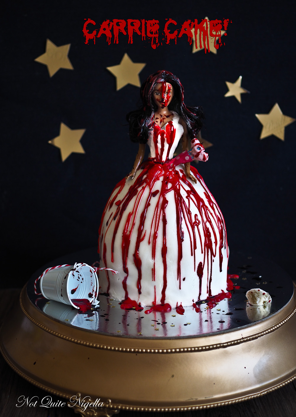 Halloween Dolly Varden Cake Carrie @ Not Quite Nigella