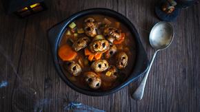 GHOULISH Skull & Pumpkin Soup for Halloween!